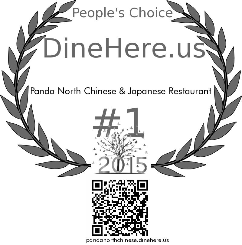 Panda North Chinese & Japanese Restaurant DineHere.us 2015 Award Winner