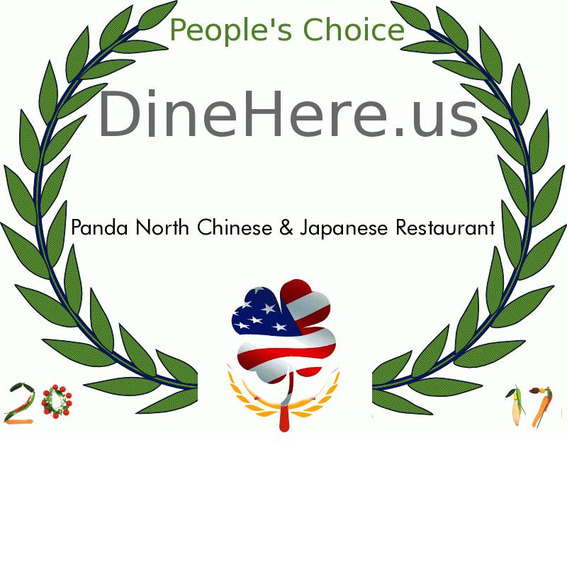 Panda North Chinese & Japanese Restaurant DineHere.us 2017 Award Winner
